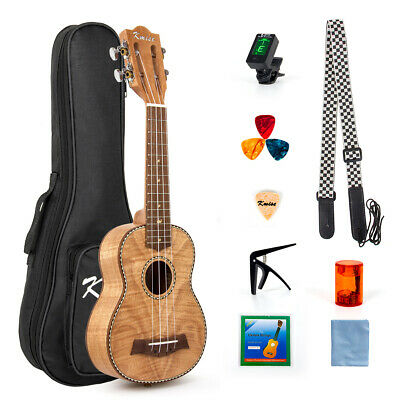 Ukulele 21 Inch Soprano Ukelele For Beginner Kit Classical Type Tiger Flame