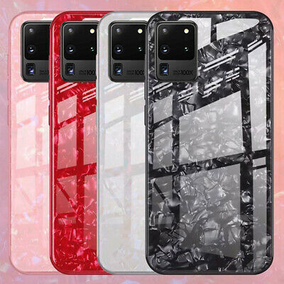 Luxury Marble Tempered Glass Case Cover For Samsung Galaxy S8 S9 S10 Plus Note 9