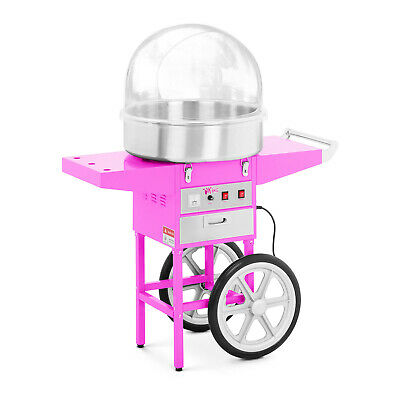 Cotton Candy Maker with Wagon and Guard Candy Floss Machine with Cart and Cover