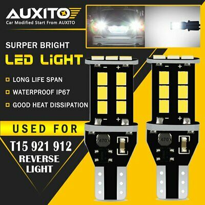 2X AUXITO T15 W16W 921 Error Free Canbus LED Car Reverse Back Light Side Bulb EA