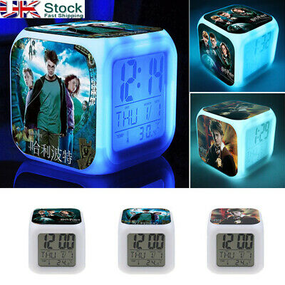 Harry Potter Movie LED 7 Color Change Alarm Clock Touch Light Christmas Gifts DG