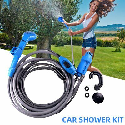 12V Portable Automobile Shower Set Water Pump Travel Trip Camp Car Caravan Boat