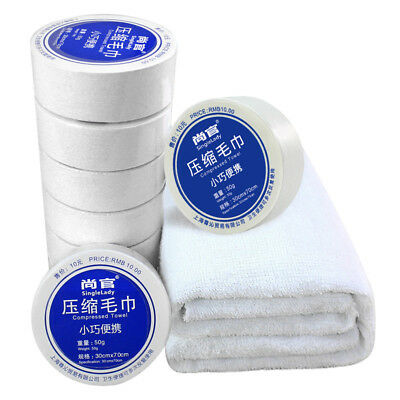 1Psc Mini Cotton Travel Compressed Towel Tablet Disposable Facial Tissue Wipes