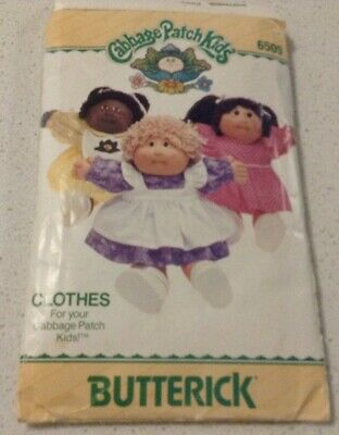 Cabbage Patch Kids Sewing Pattern Butterick 6509 Dress & Panties 40.5cm Doll $10