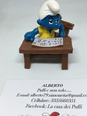 Puffi Smurfs Super Puffo Scolaro Smusr School Desk Talking 40258