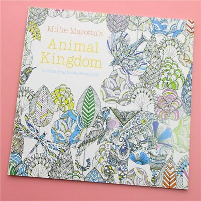 24Pages Animal Kingdom English Edition Coloring Book For Children Relieve Stress