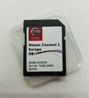 New Nissan Connect 1 (Lcn1) V9 Maps Sat Nav Sd Card Juke, Qashqai, X-Trail, Note