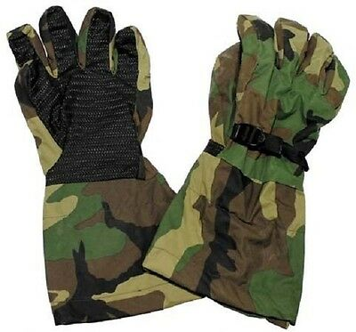 US Army Woodland Camouflage Goretex Finger Handschuhe Gloves XL