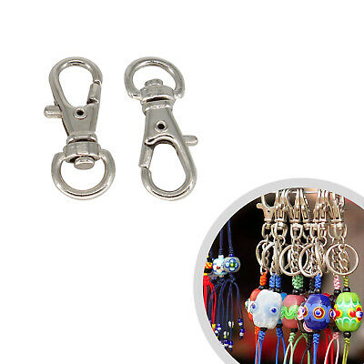 2/5/10pcs 32mm Metal Trigger Swivel Clasp Hooks Clip with D Ring for Keychains
