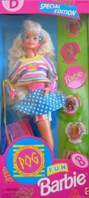 Barbie Fun POG Special Edition Doll (1994) by Mattel MINT