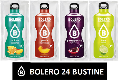 Bolero drink conf da 24 MULTIVITAMIN-PEACH-POMEGRANATE-LYME  Preparato Istant.