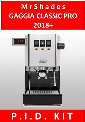 Gaggia Classic Pro 2018+ PID Kit (single display) all parts & full instructions