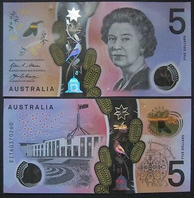 Australien 5 Dollars 1995 Unc P 51 A 100% Original Coins & Paper Money