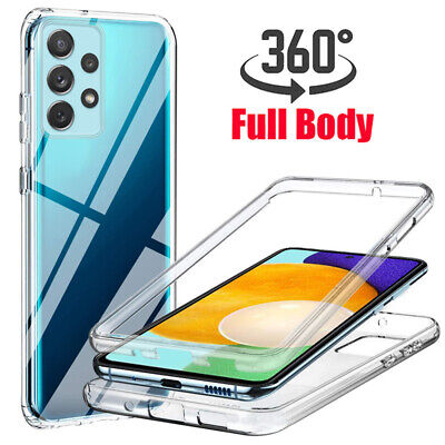 360° Shockproof Double Cover Clear Soft Case For Samsung S10 S9 Plus A70 Note 9