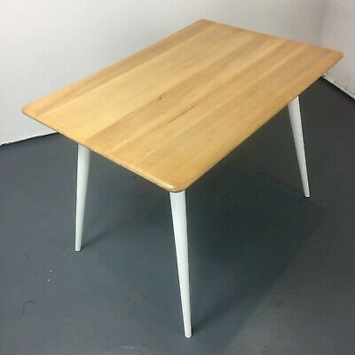 UK DELIVERY. Vintage Ercol 393 Breakfast Table, Retro Elm Plank Coffee Dining