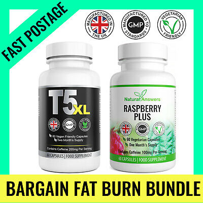 Fat Burners T5 XL & Garcinia 120 Keto Diet Pills Weight Loss Slimming Tablets UK