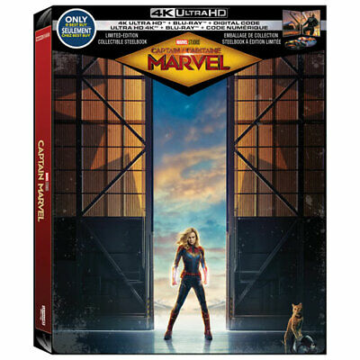 Captain Marvel - Limited Edition SteelBook (4K Ultra HD + Blu-ray + DC) *NEW*