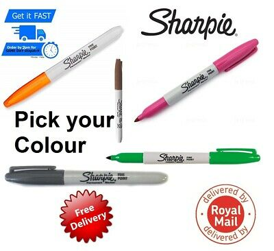 Sharpie Fine Point Permanent Marker Pens Brown Gray Green Pink Orange Options