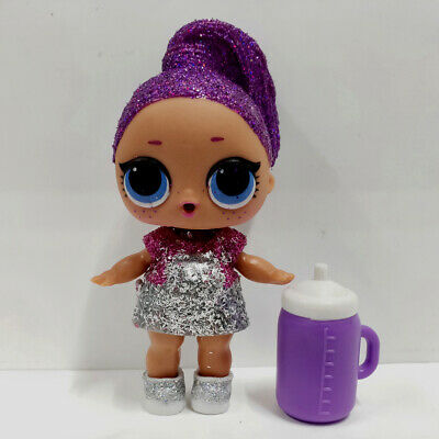 lol Under Wraps Doll Big Sister Bling Queen Purple Hair Silver Dress Kids Gift