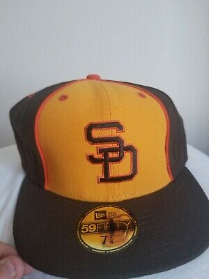 buy popular e9aad af2c6 NWT New Era Cooperstown San Diego Padres Hat Size 7 1 8