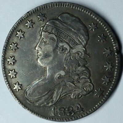 1834 50C Capped Bust Half Dollar XF Uncertified #