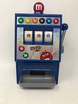 M&M's SLOT MACHINE - CANDY DISPENSER -  LIGHTS AND SOUND - REFILLABLE