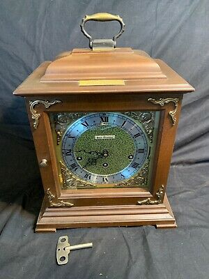 Vintage 1970s Seth Thomas Mantle Clock 8 Day Wind Key Chime Legacy