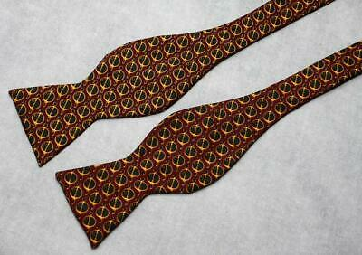 Holiday Red Silk Mens Bow Tie 1970s Preppy Dandy Summer Wedding Brooks Brothers