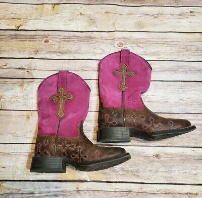 3deb291ade5 ARIAT YOUTH GIRLS Square toe 10011892 Pink Brown Size 3 - $28.50 ...