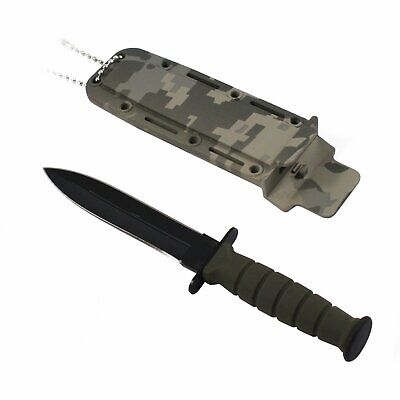 "6"" TACTICAL COMBAT NECK KNIFE Survival Hunting MILITARY BOWIE DAGGER Fixed Blade"