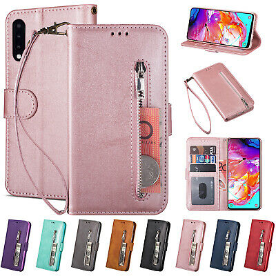 For Samsung A50 Case A30 A70 M30 A5 2017 Leather Magentic Flip Card Wallet Cover