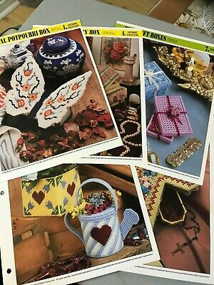 Plastic Canvas Patterns for Boxes, Containers, Caddy's, Holders & Misc. Sets
