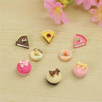20 Heart Shape /& Strawberry Cake Resin Miniature//Craft//Doll//House//Cute//Clay B154