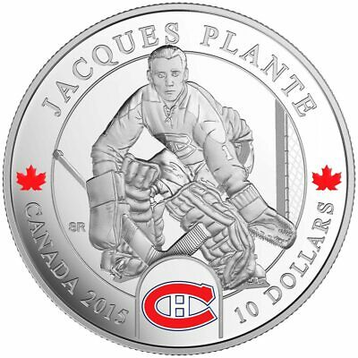 2015 $10 Fine Silver Coin - Original Six™ Goalies - Jacques Plante