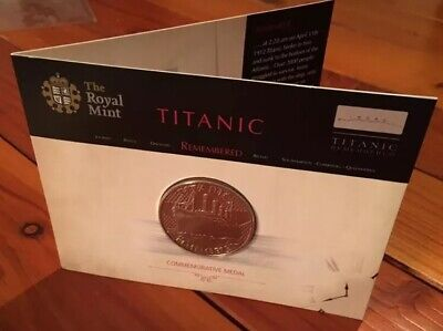 R.M.S TITANIC Royal Mint UK Collectable Medallion Capsule Coin Medal New Gift