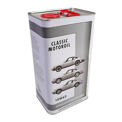 5 liter Genuine Porsche Classic Motor Oil 10W60 00004320931 air cooled 3.0 - 3.6