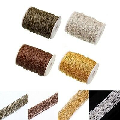 5m/roll Cable Open Link Iron Metal Chain Findings Craft Jewelry Making DIY w7