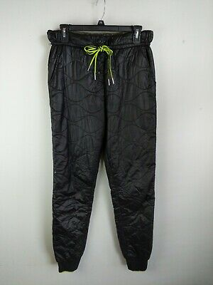 7e8d9fec T by Alexander Wang Womens Quilted Track Pants S Small Black Nylon Skinny  Jogger