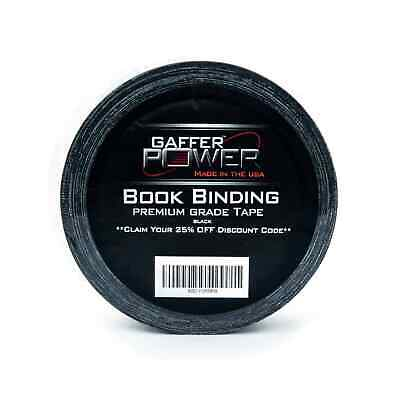 "Bookbinding Tape. Black Cloth Book Repair Tape, 2"" X 15 Yards"