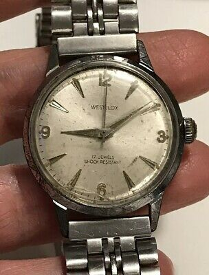 Vintage WESTCLOX 17 Jewels Shock Resistant Mens Mechanical Hand Wind Watch RUNS