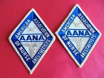 Lot of 2 Vintage AANA American Association of Nurse Anesthetists Sew On Patches