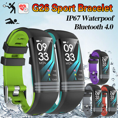 G26 Waterproof Smart Watch Bracelet Heart Rate Monitor Wristband for IOS Android