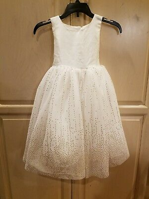 5194adc0fc96 Special Editions Sears Baby/Toddler Girls Holiday/Party Dress Ivory/Gold  Size 4T