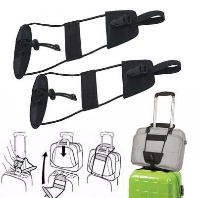 Add A Bag Strap Travel Luggage Suitcase Adjustable Belt Carry On Bungee Easy 2X