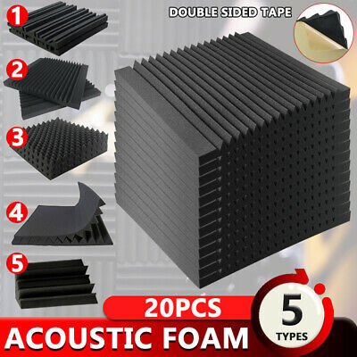 30x30/50x50cm Acoustic Foam Sound Absorption Treatment Proofing Square Panel DIY