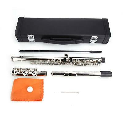 Newnickel Silver School Practice 16 Closed Hole Concert Band Student C FLUTE Kit