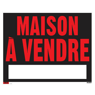 """Sign - """"Maison à vendre"""" - Black and Red - french house for sale"""