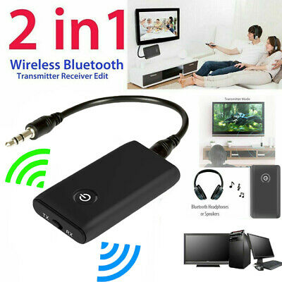 Bluetooth V4 Transmitter&Receiver Wireless A2DP Audio 3.5mm Jack Aux Adapter CA