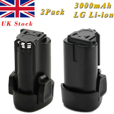 2x 3000mAh 12V Li-ion Battery for Black&Decker BL1110 BL1310  LBX12 HPL106 PSL12