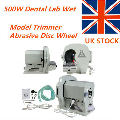 Dental Model Trimmer Wet Abrasive Disc Wheel Gypsum Arch Lab Equipment 500W UK